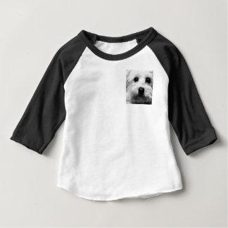 Camiseta Para Bebê Um maltês preto e branco