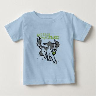 Camiseta Para Bebê Um outro dia para jogar a criança T