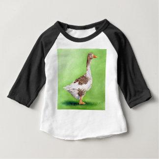 Camiseta Para Bebê Um retrato de um ganso