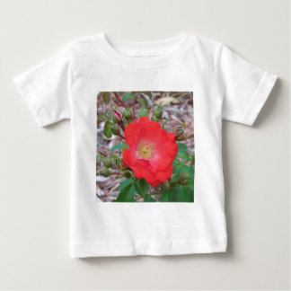 Camiseta Para Bebê Um salmão simples coloriu aberto aumentou