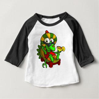 Camiseta Para Bebê Um sapo que joga a guitarra