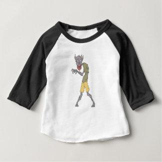 Camiseta Para Bebê Um zombi assustador do braço com a carne Rotting