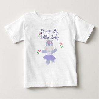 Camiseta Para Bebê Uma bailarina roxa pequena grande ideal do