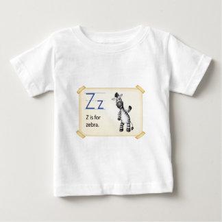 Camiseta Para Bebê Uma letra Z para a zebra