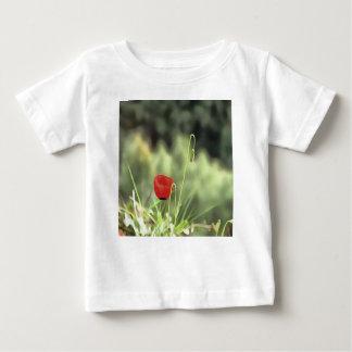 Camiseta Para Bebê Uma papoila