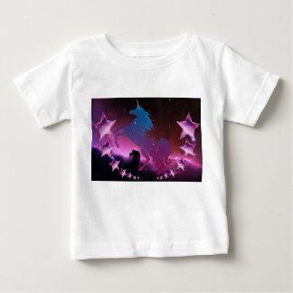 Camiseta Para Bebê Unicórnio com estrelas