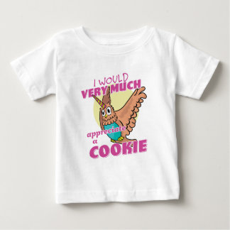 Camiseta Para Bebê Unicórnio da coruja eu muito apreciaria um