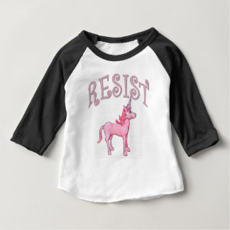 Camiseta Para Bebê Unicórnio da resistência