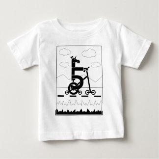 Camiseta Para Bebê Unicórnio de cinco velocidades