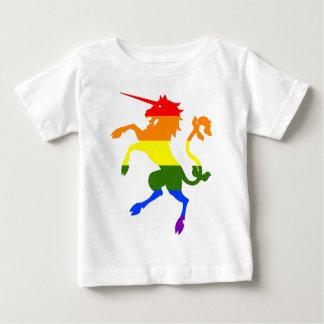 Camiseta Para Bebê Unicórnio do arco-íris