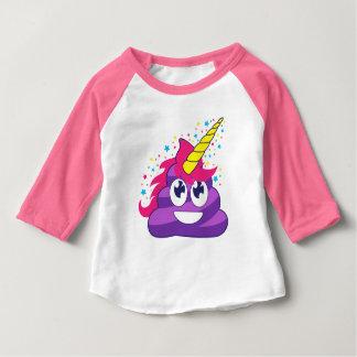 Camiseta Para Bebê Unicórnio Emoji de Poopy
