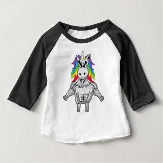Camiseta Para Bebê Unicórnio esteróide