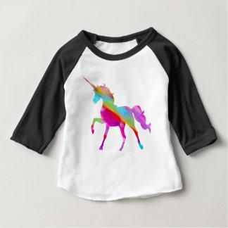 Camiseta Para Bebê Unicórnio prancing do arco-íris sparkly mágico