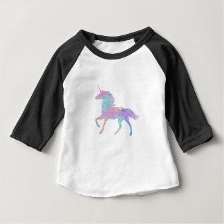 Camiseta Para Bebê Unicórnio roxo cor-de-rosa mágico