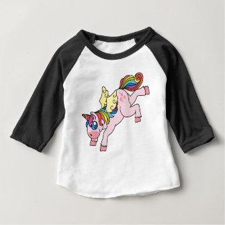Camiseta Para Bebê Unicórnio voado prismático