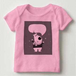 Camiseta Para Bebê Ursinho bonito agradável: Tshirt cor-de-rosa