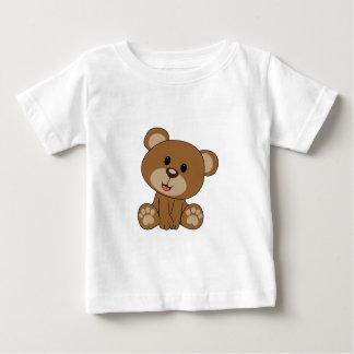 Camiseta Para Bebê Urso de ursinho de Brown