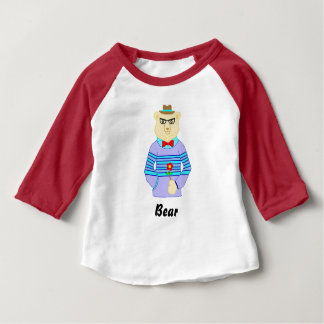 Camiseta Para Bebê urso do geek