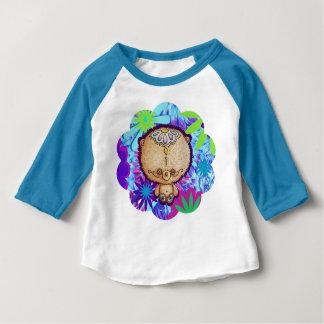 Camiseta Para Bebê Urso do hippy