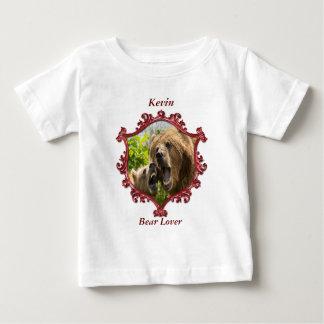 Camiseta Para Bebê Urso e bebê de urso com quadro quadrado grande de
