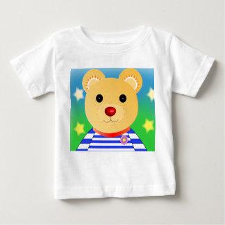 Camiseta Para Bebê Urso feliz