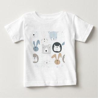 Camiseta Para Bebê Urso, leão e coelho de ursinho animal bonito dos
