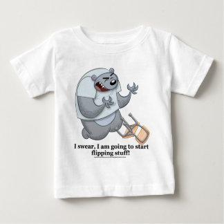 Camiseta Para Bebê Urso que lança o material