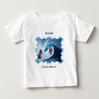 Camiseta Para Bebê Ursos no oceano