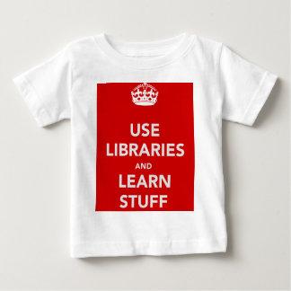 Camiseta Para Bebê Use bibliotecas e aprenda o material
