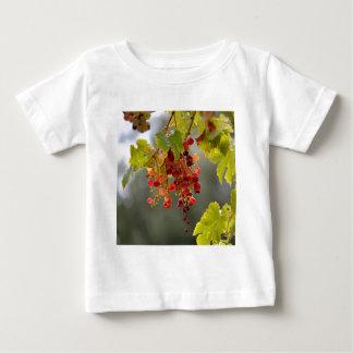 Camiseta Para Bebê Uvas vermelhas do close up entre as folhas