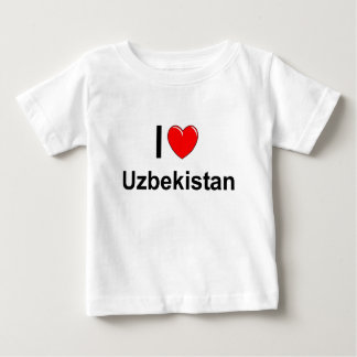 Camiseta Para Bebê Uzbekistan