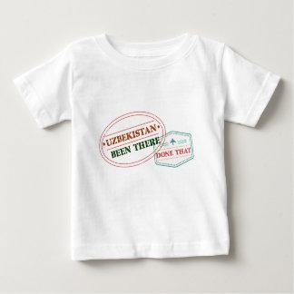 Camiseta Para Bebê Uzbekistan feito lá isso