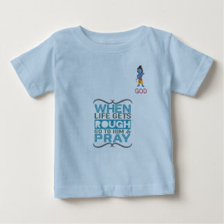Camiseta Para Bebê Vá pray o tshirt do deus