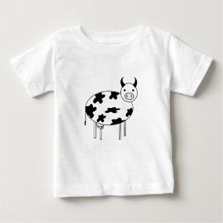 Camiseta Para Bebê Vaca bonito