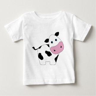 Camiseta Para Bebê Vaca branca bonito