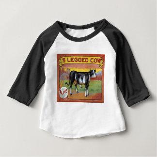Camiseta Para Bebê Vaca cinco equipada com pernas