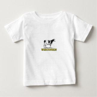 Camiseta Para Bebê Vaca de leiteria de Wisconsin
