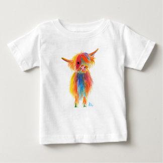 """Camiseta Para Bebê Vaca escocesa """"ANJO"""" das montanhas por Shirley"""