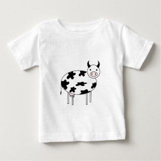 Camiseta Para Bebê Vaca ilustrada