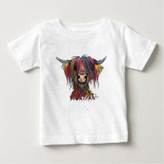 Camiseta Para Bebê Vaca peludo escocesa 'OLIVER 'das montanhas