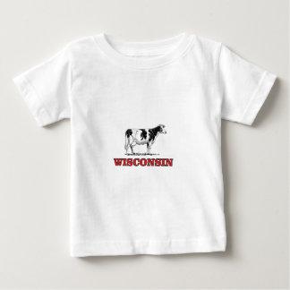 Camiseta Para Bebê vaca vermelha de Wisconsin