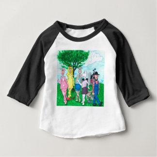 Camiseta Para Bebê Vacas de leiteria que vestem a roupa de rua