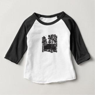 Camiseta Para Bebê Vagão coberto do clássico das crianças do vagão