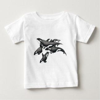Camiseta Para Bebê Vagem da orca