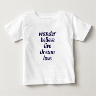 Camiseta Para Bebê Vagueie