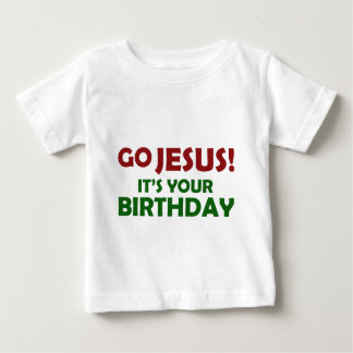Camiseta Para Bebê Vai Jesus! Seu seu aniversário