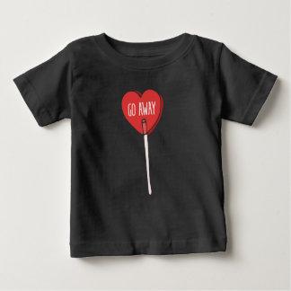 Camiseta Para Bebê vai o anti dia dos namorados ausente