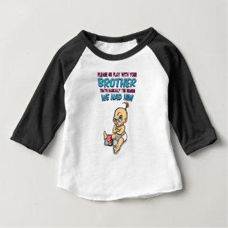 Camiseta Para Bebê Vai o jogo com seu irmão - parentalidade perfeita