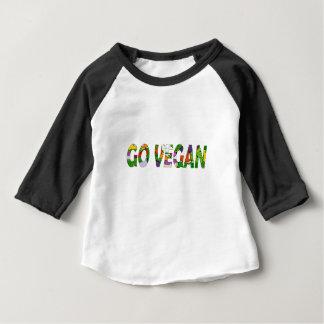 Camiseta Para Bebê Vai o vegan