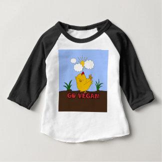 Camiseta Para Bebê Vai o Vegan - pintinho bonito
